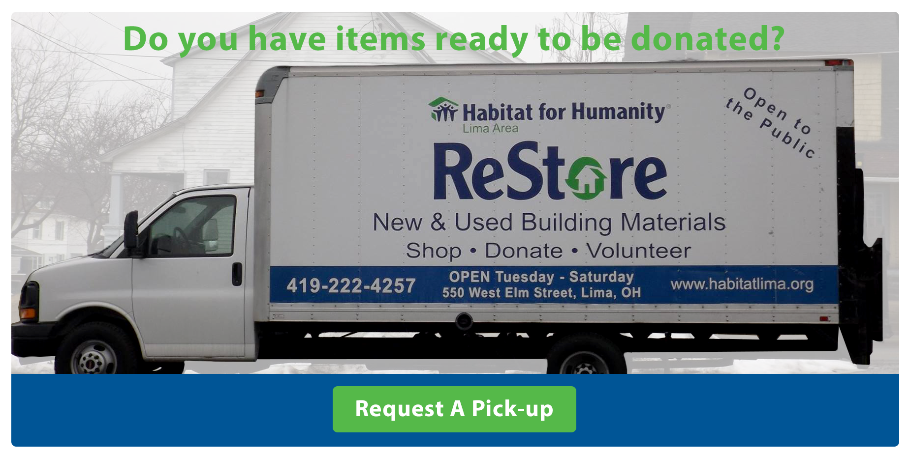 ReStore of Lima Donation Pickups Truck