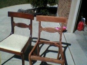 chair in driveway