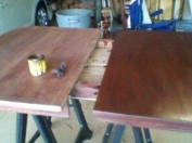 half done table